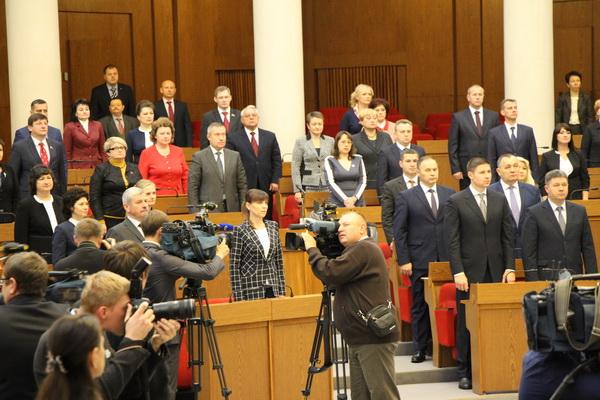 Первый день 1-й сессии депутатов 6-го созыва